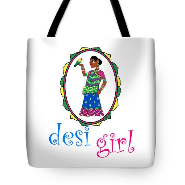 Desi Girl Tote Bag