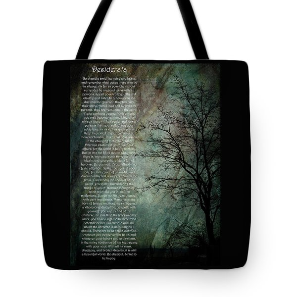 Desiderata Of Happiness - Vintage Art By Jordan Blackstone Tote Bag