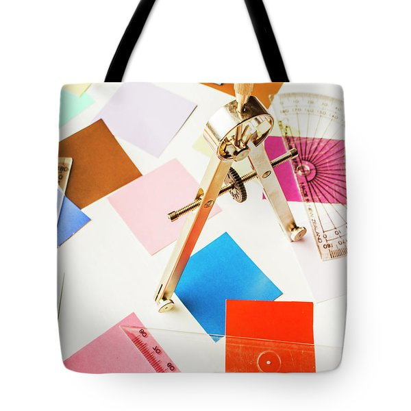 Design In Abstract Geometry Tote Bag