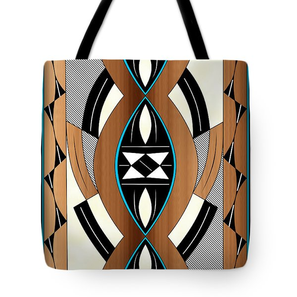 Southwest Collection - Design Two In Blue Tote Bag