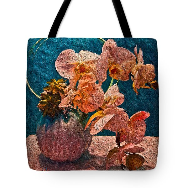 Designer Floral Arrangement Tote Bag