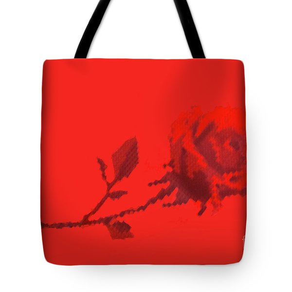 Tote Bag featuring the photograph Designer Red Rose by Linda Phelps