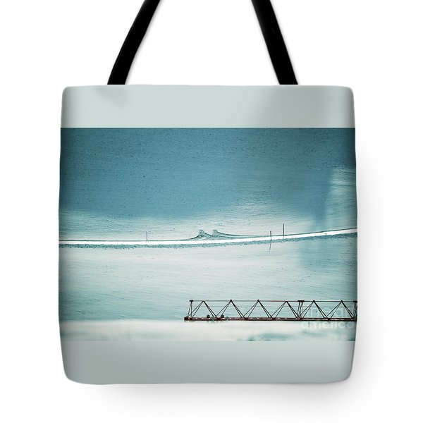 Tote Bag featuring the photograph Designs And Lines - Winter In Switzerland by Susanne Van Hulst