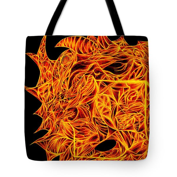 Tote Bag featuring the drawing Desire Flair by Jamie Lynn