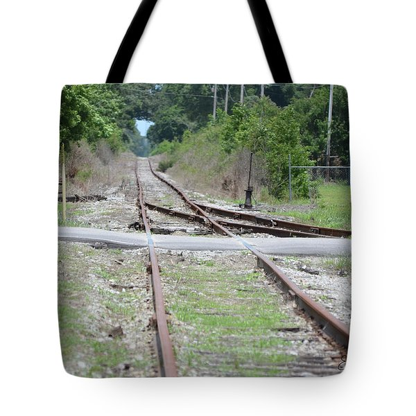 Desolate Rails Tote Bag