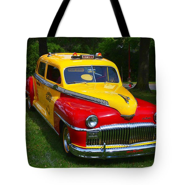 Desoto Skyview Taxi Tote Bag by Garry Gay