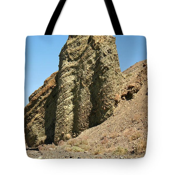 Dessicated Landscape In Death Valley National Monument Tote Bag