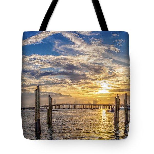 Destin Harbor #1 Tote Bag