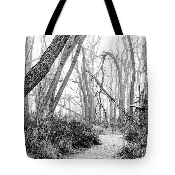 Destruction In Black And White Tote Bag