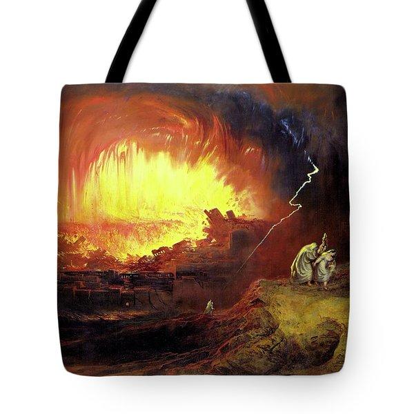 Destruction Of Sodom And Gomorah Tote Bag