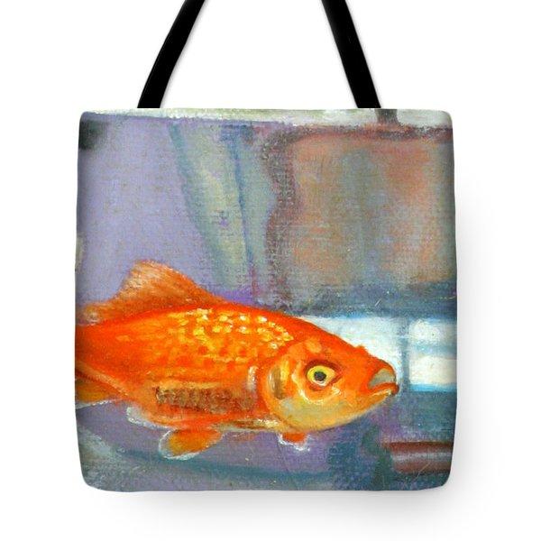 detail goldfish of Fishing Tote Bag