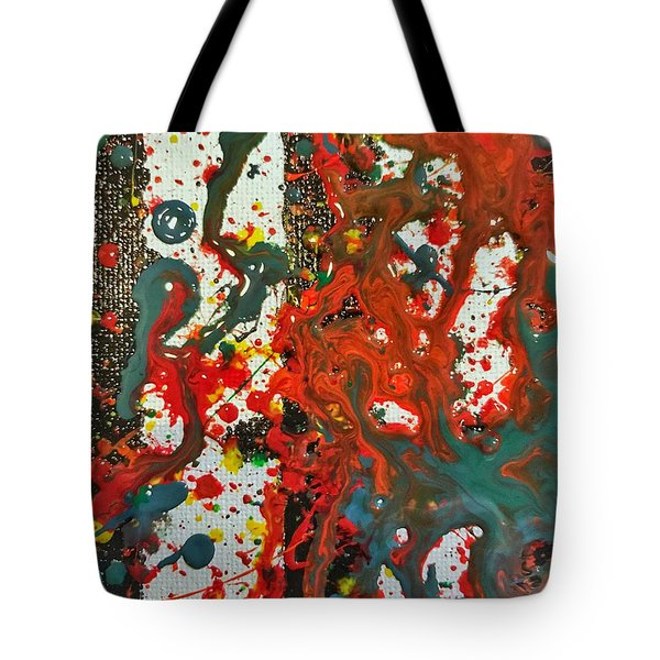 Tote Bag featuring the painting Detail Of Hogwarts by Robbie Masso
