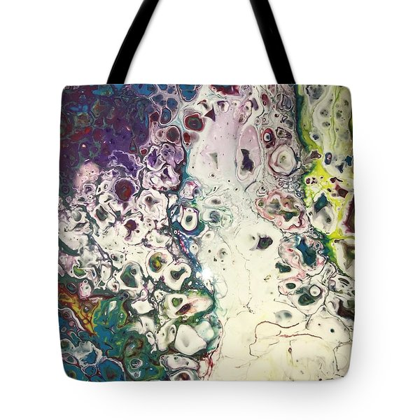 Tote Bag featuring the painting Detail Of Instagram 2 by Robbie Masso