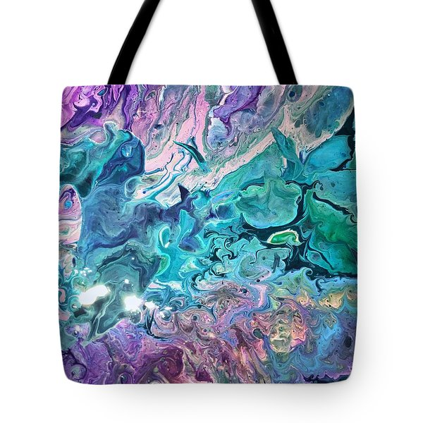 Tote Bag featuring the painting Detail Of Waves 2 by Robbie Masso