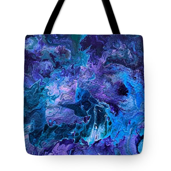 Tote Bag featuring the painting Detail Of Waves 5 by Robbie Masso