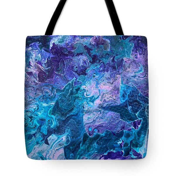 Tote Bag featuring the painting Detail Of Waves 7 by Robbie Masso
