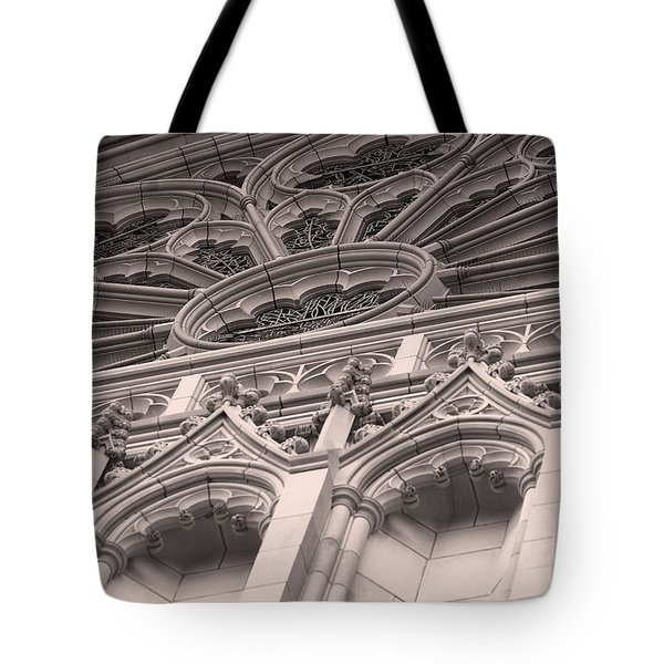 Details Of The National Cathedral Tote Bag