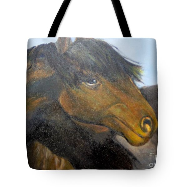 Tote Bag featuring the painting Determination by Saundra Johnson