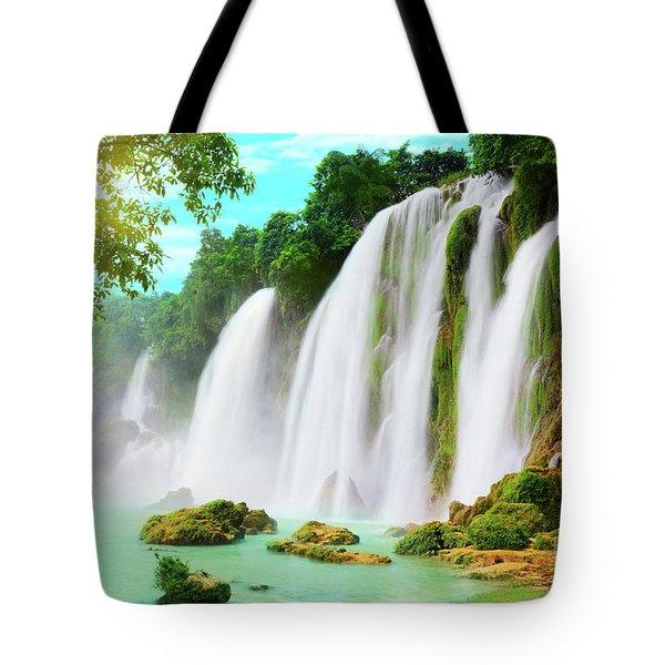 Detian Waterfall Tote Bag
