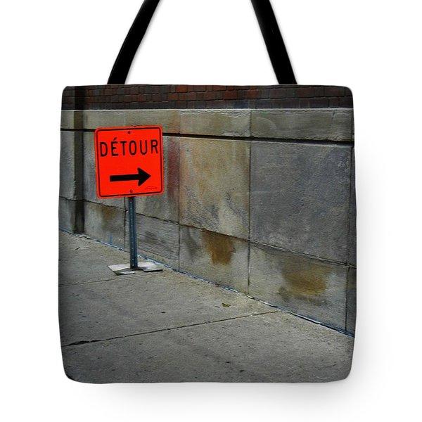 Detour  Tote Bag