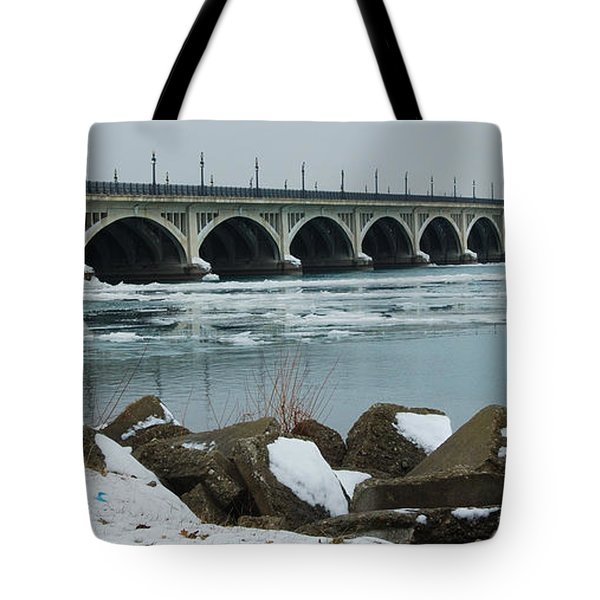 Detroit Belle Isle Bridge Tote Bag