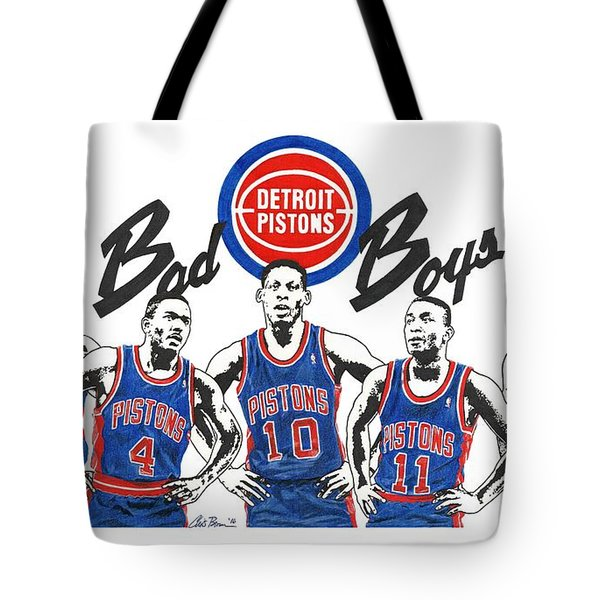 Detroit Bad Boys Pistons Tote Bag