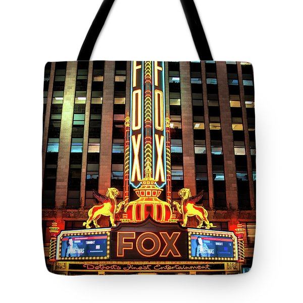 Detroit Fox Theatre Marquee Tote Bag