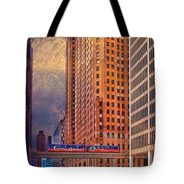 Detroit People Mover Tote Bag
