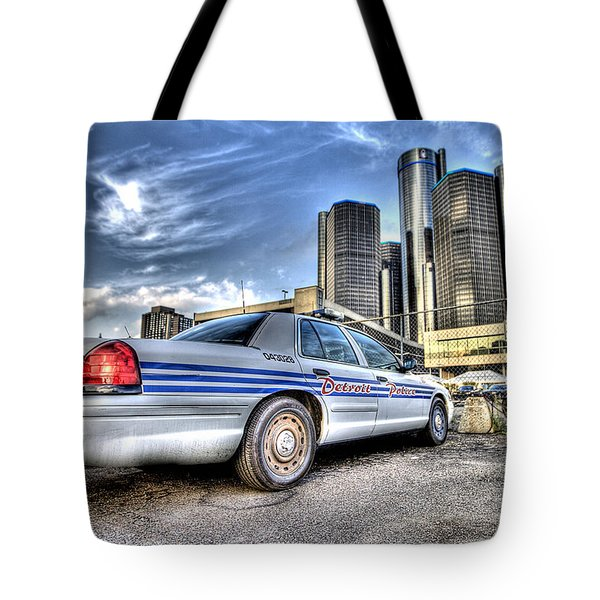 Detroit Police Tote Bag by Nicholas  Grunas
