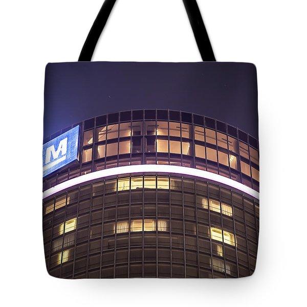 Tote Bag featuring the photograph Detroit Renaissance Center by Nicholas  Grunas