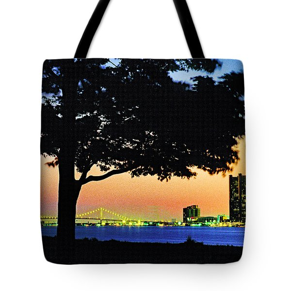 Detroit River View Tote Bag by Dennis Cox WorldViews