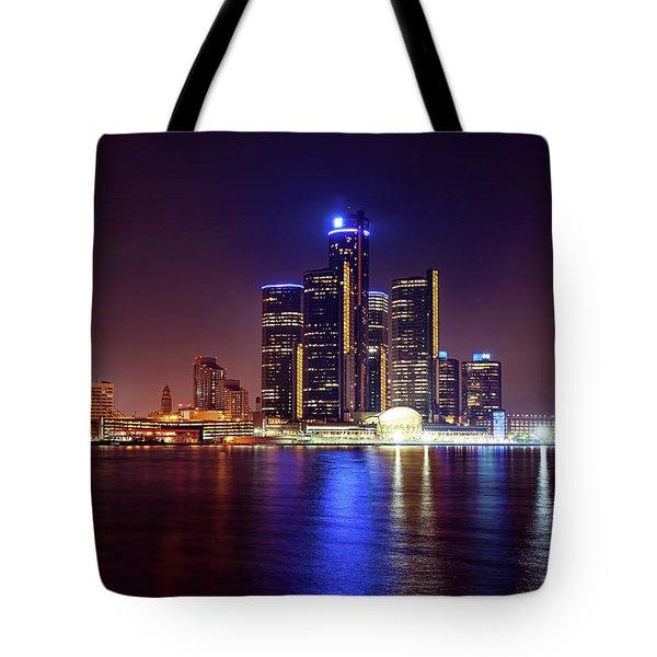Detroit Skyline 4 Tote Bag by Gordon Dean II
