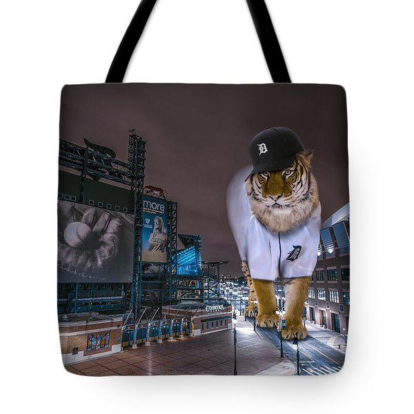 Detroit Tigers At  Comerica Park Tote Bag