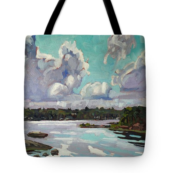 Developing Showers Tote Bag by Phil Chadwick