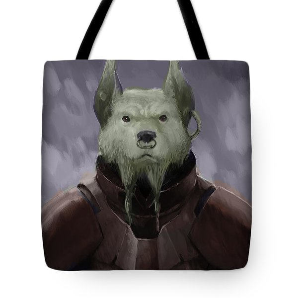 Devil Dog Tote Bag by Marcus Lewis
