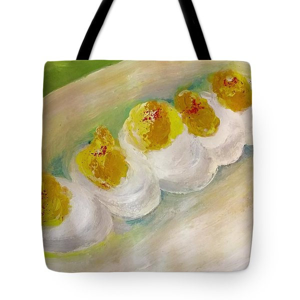 Devilled Eggs Tote Bag