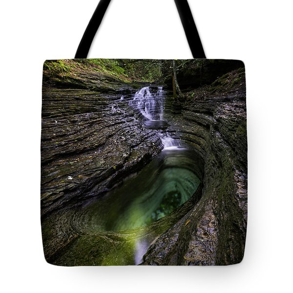 Devils Bathtub Tote Bag by Anthony Heflin