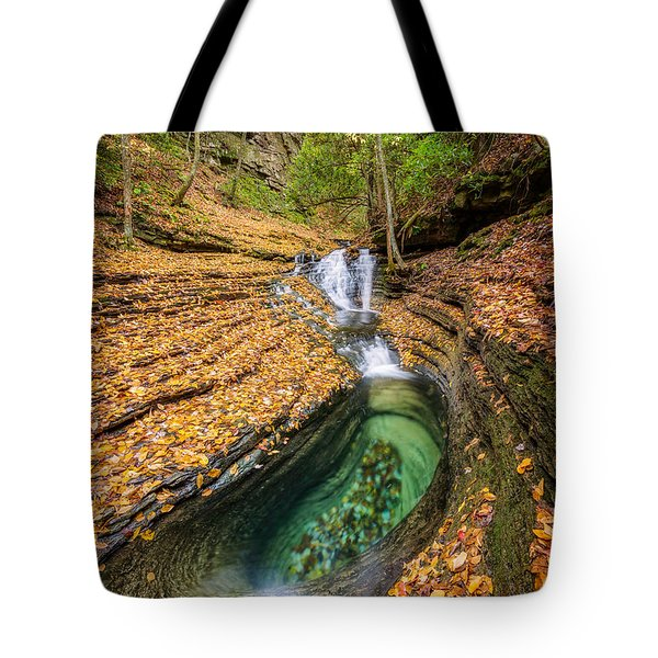 Devils Bathtub Autumn Tote Bag by Anthony Heflin