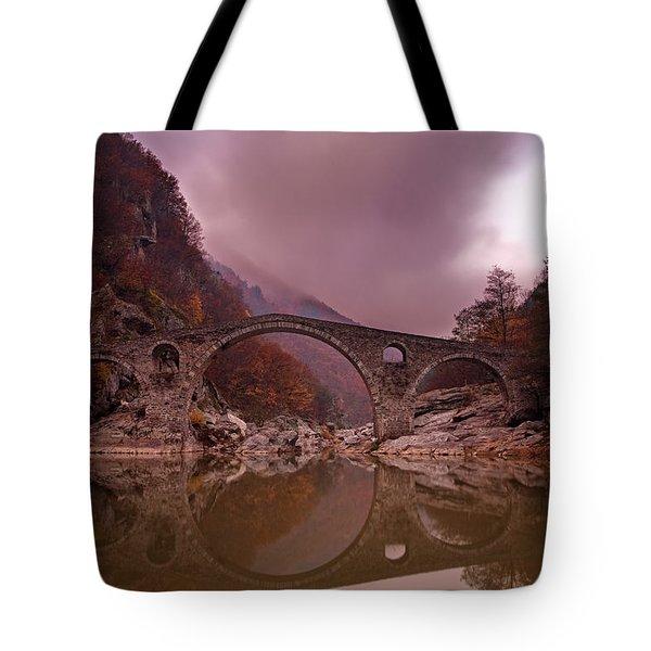 Devil's Bridge Tote Bag by Evgeni Dinev