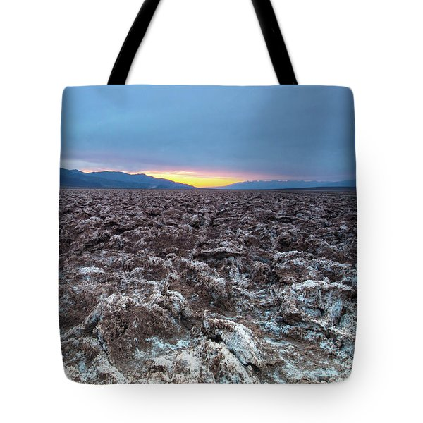 Tote Bag featuring the photograph Devil's Golf Course  by Catherine Lau