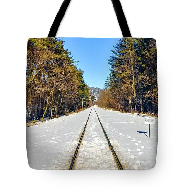 Tote Bag featuring the photograph Devil's Lake Railroad by Ricky L Jones