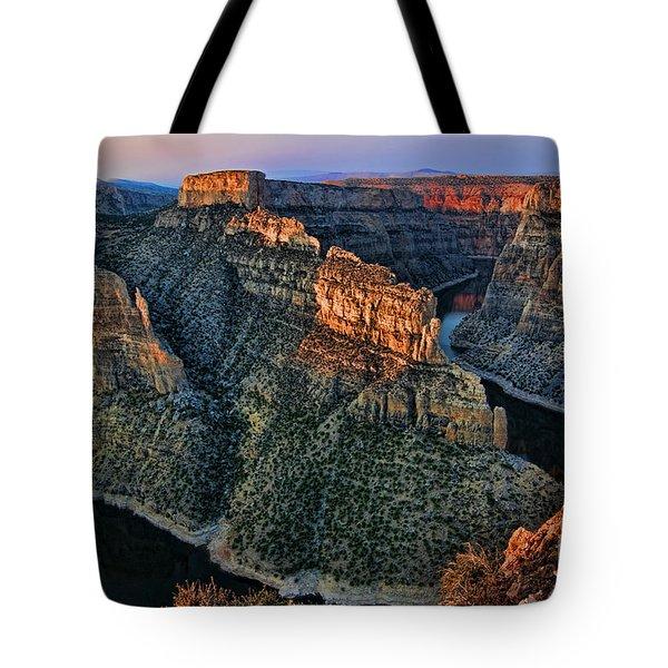 Devils Overlook Big Horn Canyon Tote Bag