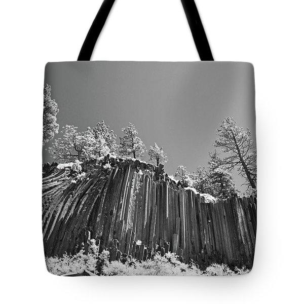 Devil's Postpile - Frozen Columns Of Lava Tote Bag by Christine Till