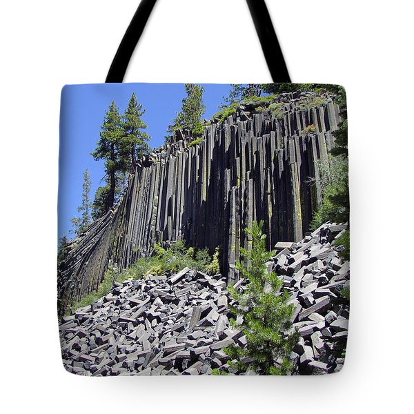 Devil's Postpile - Nature's Masterpiece Tote Bag by Christine Till
