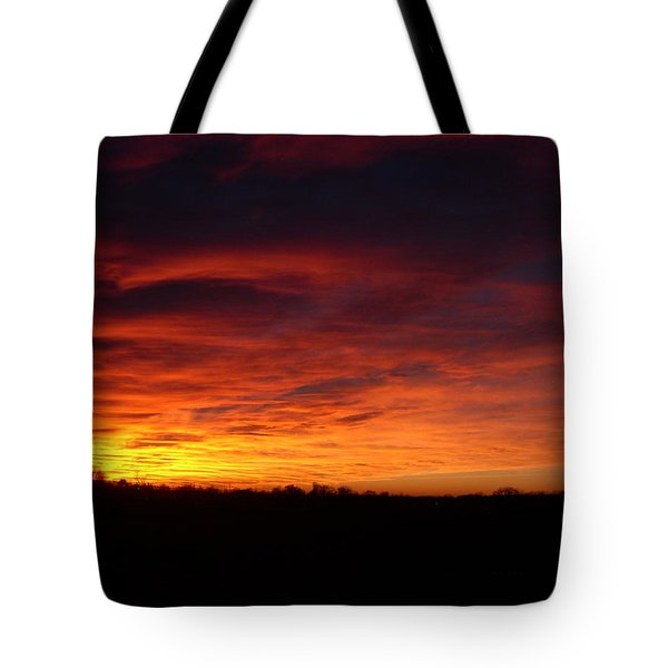 Devils Sky Tote Bag by Traci Goebel