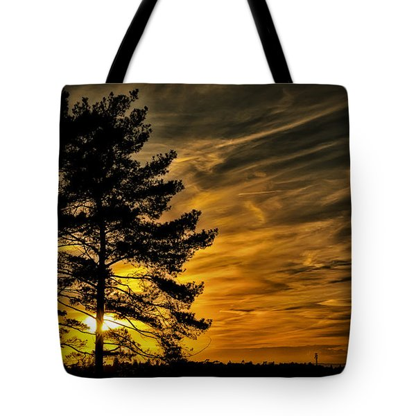 Devils Sunset Tote Bag by Chris Boulton