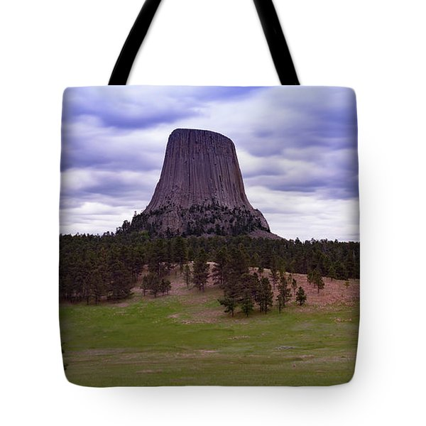 Tote Bag featuring the photograph Devil's Tower 2 by Gary Lengyel