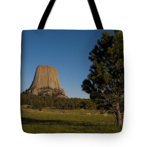 Tote Bag featuring the photograph Devil's Tower by Gary Lengyel