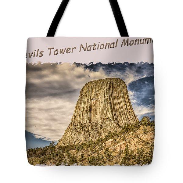 Devils Tower Inspiration 2 Tote Bag