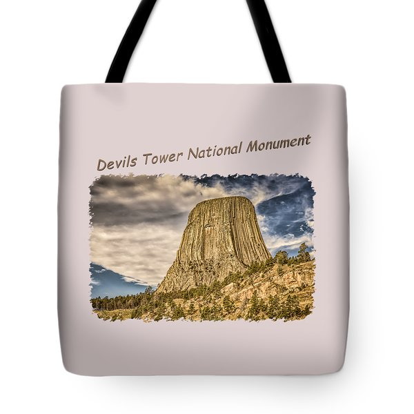 Devils Tower Inspiration 2 Tote Bag
